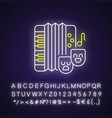 comedy music neon light icon vector image