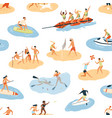 diverse people enjoying summer outdoor activity vector image vector image