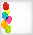 Easter colorful eggs with space for your text vector image vector image