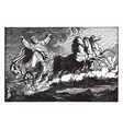 elijah taken up to heaven in a chariot of fire vector image vector image