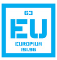 Europium chemical element vector image vector image