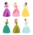 fairytale princess fashioned fantasy girls in vector image vector image
