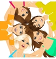 five young happy smiling teenagers vector image vector image