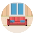 Flat icon for living room vector image vector image
