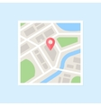 Flat Map With Pin vector image vector image