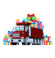 gift card truck driver birthday or other vector image vector image