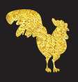 Gold Cock Banner vector image