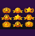 gold templates star icons for awards creating vector image