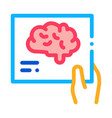 hand brain photo icon outline vector image vector image