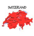 hand drawn stylized map switzerland travel vector image