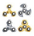 hand spinner toy set spinning machine rotation vector image