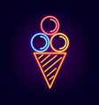 ice cream neon signboard vector image
