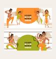indian dancing school invitation banner vector image