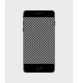 interface mobile phone screen in mockup vector image vector image