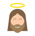 jesus flat icon easter and holiday christ sign vector image vector image