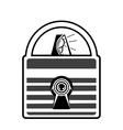 lock with alarm vector image vector image