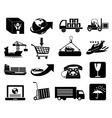 logistics icons set vector image