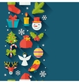 Merry Christmas and Happy New Year seamless vector image vector image