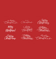 merry christmas calligraphy set modern and retro vector image
