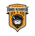 motorcycle helmet shield logo design vector image vector image