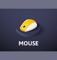 mouse isometric icon isolated on color background vector image vector image