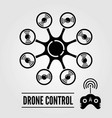 octocopter drone with remote controller vector image