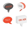 On Air sign talk show symbol vector image vector image