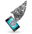 qr code smartphone vector image