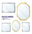 realistic mirrors set decoration mirror vector image vector image