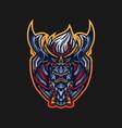 ronin mascot logo vector image vector image