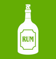 rum icon green vector image vector image