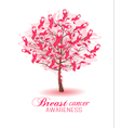 Sakura tree with breast cancer awareness ribbons vector image vector image