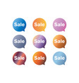 sale label speech bubble set vector image vector image