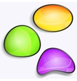 set colorful glossy buttons vector image
