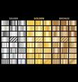 Set metallic gradients collection of
