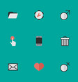 set simple interface icons vector image vector image