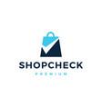 shop check logo icon vector image vector image