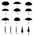 silhouettes of umbrellas vector image vector image