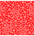 snow pattern red vector image vector image