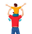 son on his father shoulders vector image vector image