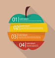 Step design of four part apple infographic vector image vector image