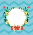 summer round frame cartoons vector image