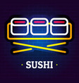 sushi logo flat style vector image vector image