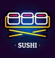 sushi logo flat style vector image