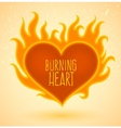 symbol burning heart vector image vector image