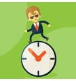 The time management vector image