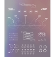 Transparent business Infographics Shadows options vector image vector image