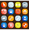 trendy flat dog and cat icons elements vector image