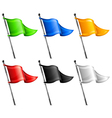triangle flags vector image