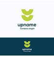 u name logo vector image vector image